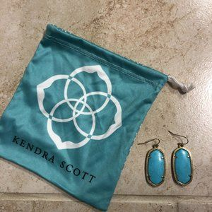 Kendra Scott Turquoise Elle Earrings